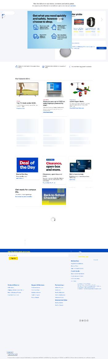 Best Buy Co., Inc. Website Screenshot