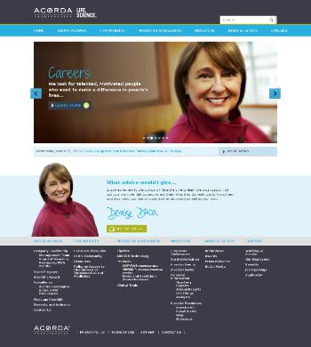 Acorda Therapeutics, Inc. Website Screenshot