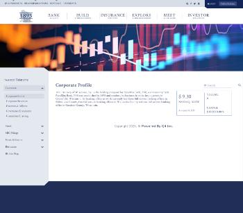 1895 Bancorp of Wisconsin, Inc. Website Screenshot