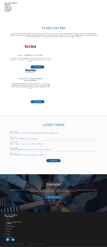 Blucora, Inc. Website Screenshot