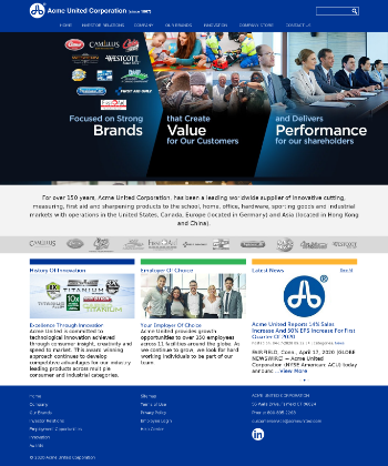 Acme United Corporation Website Screenshot