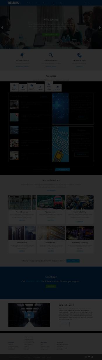 Belden Inc. Website Screenshot