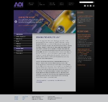 Applied Optoelectronics, Inc. Website Screenshot