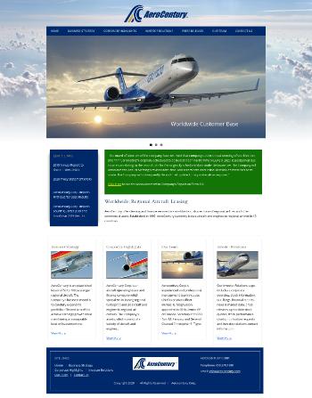 AeroCentury Corp. Website Screenshot