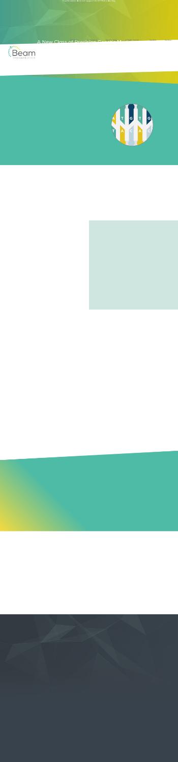 Beam Therapeutics Inc. Website Screenshot