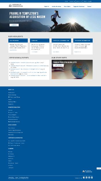 Franklin Resources, Inc. Website Screenshot