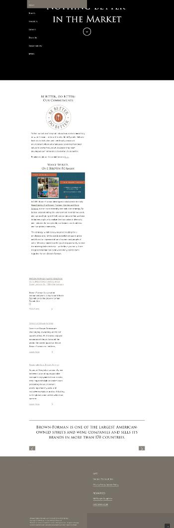 Brown-Forman Corporation Website Screenshot
