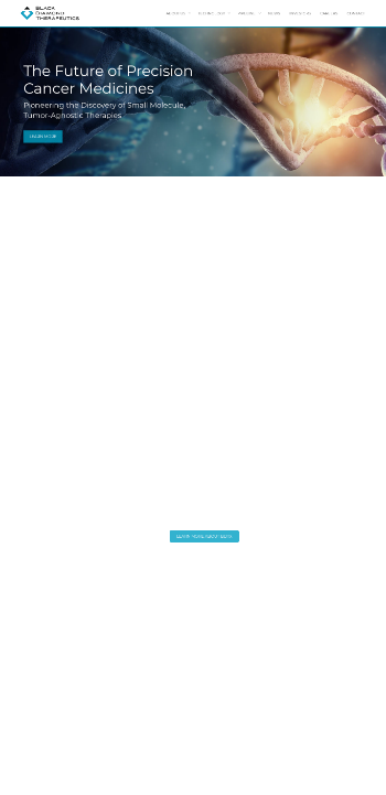 Black Diamond Therapeutics, Inc. Website Screenshot