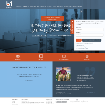 Business First Bancshares, Inc. Website Screenshot