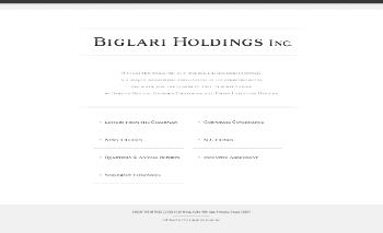 Biglari Holdings Inc. Website Screenshot