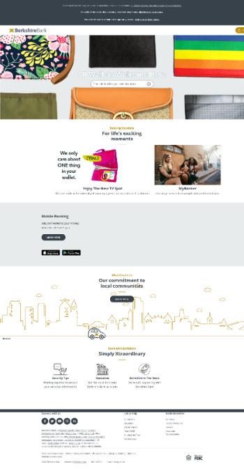 Berkshire Hills Bancorp, Inc. Website Screenshot