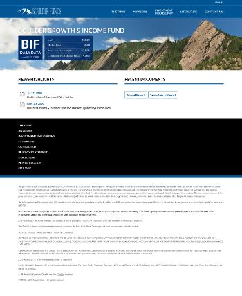Boulder Growth & Income Fund, Inc. Website Screenshot