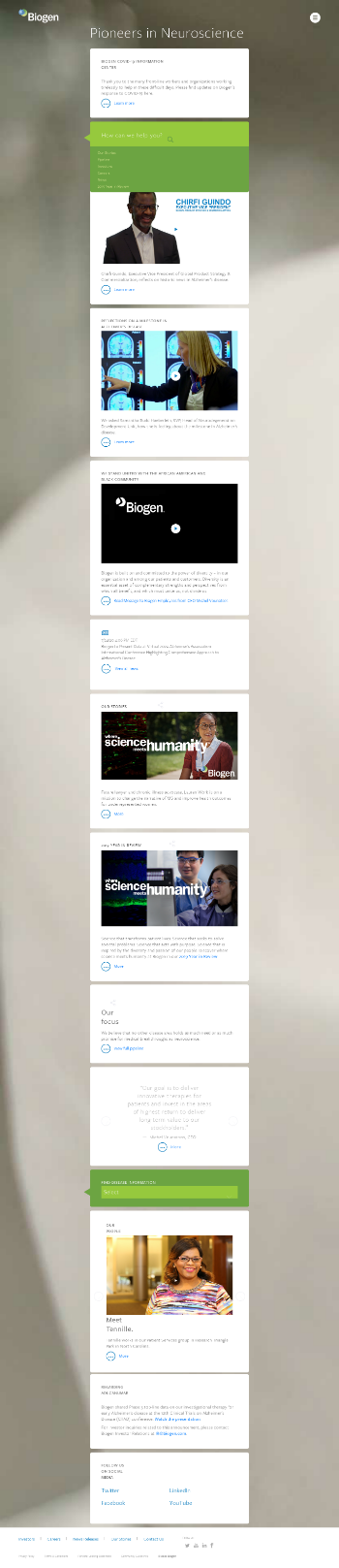 Biogen Inc. Website Screenshot