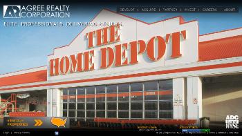 Agree Realty Corporation Website Screenshot