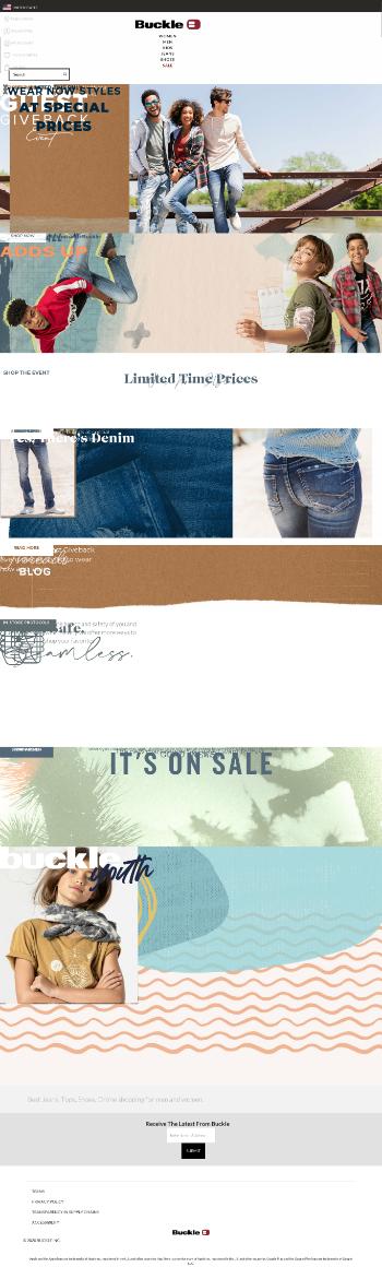 The Buckle, Inc. Website Screenshot
