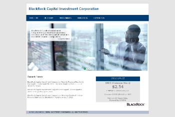 BlackRock Capital Investment Corporation Website Screenshot