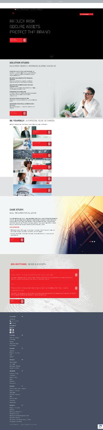 BIO-key International, Inc. Website Screenshot