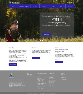 Adamis Pharmaceuticals Corporation Website Screenshot