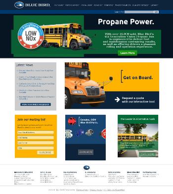Blue Bird Corporation Website Screenshot