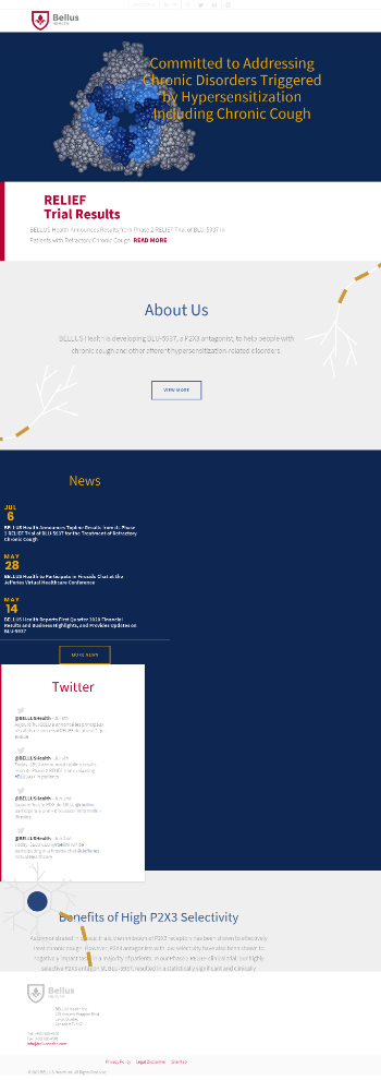 BELLUS Health Inc. Website Screenshot