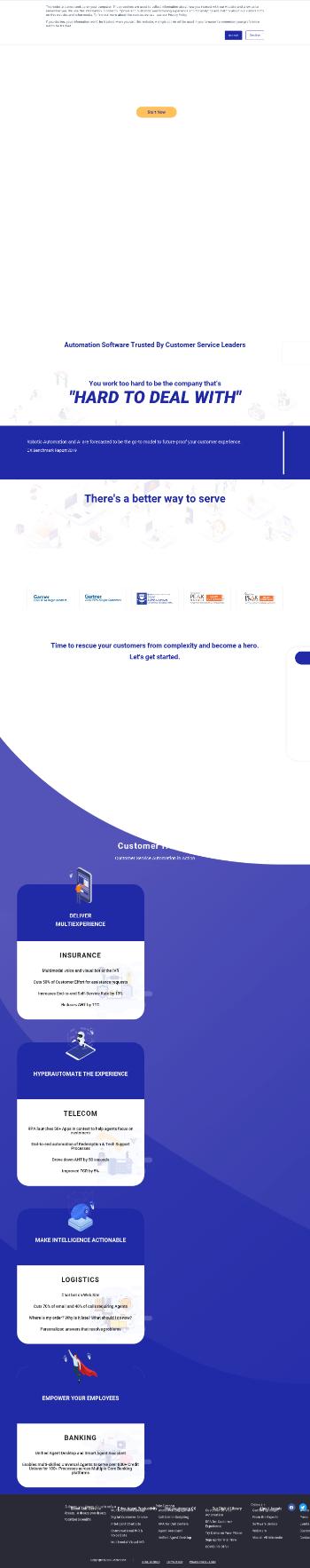 Jacada Ltd. Website Screenshot
