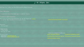 J.W. Mays, Inc. Website Screenshot