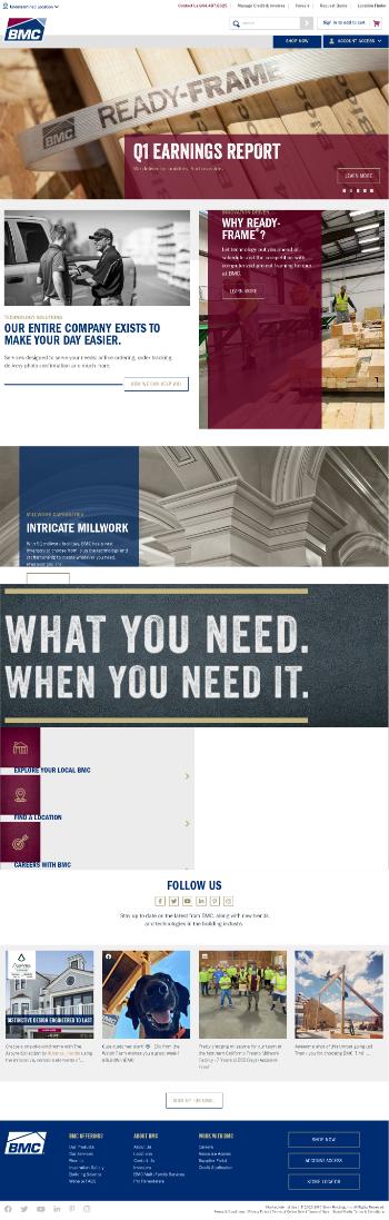 BMC Stock Holdings, Inc. Website Screenshot