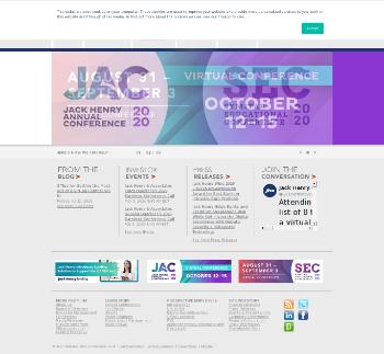 Jack Henry & Associates, Inc. Website Screenshot