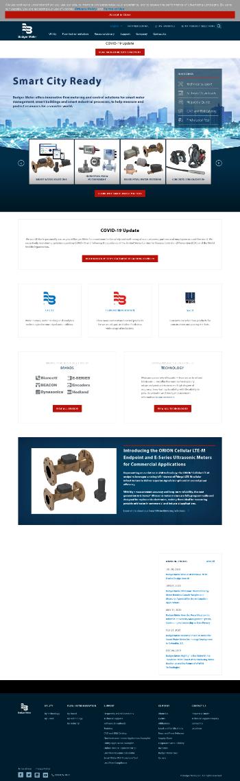 Badger Meter, Inc. Website Screenshot