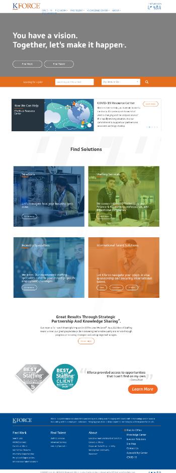 Kforce Inc. Website Screenshot