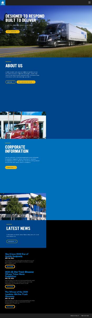 Landstar System, Inc. Website Screenshot