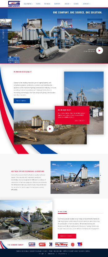Gencor Industries, Inc. Website Screenshot