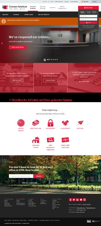 German American Bancorp, Inc. Website Screenshot