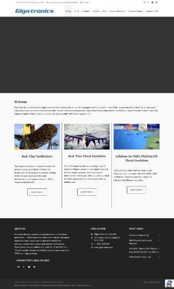 Giga-tronics Incorporated Website Screenshot