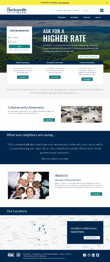 Harleysville Financial Corporation Website Screenshot