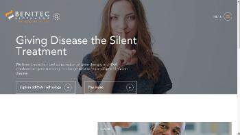 Benitec Biopharma Inc. Website Screenshot
