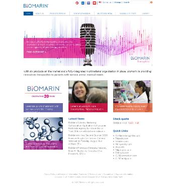 BioMarin Pharmaceutical Inc. Website Screenshot