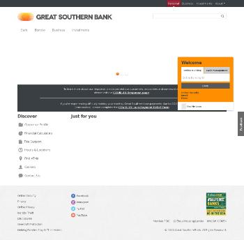 Great Southern Bancorp, Inc. Website Screenshot