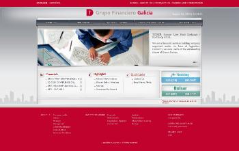 Grupo Financiero Galicia S.A. Website Screenshot