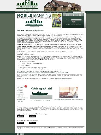 HFB Financial Corporation Website Screenshot