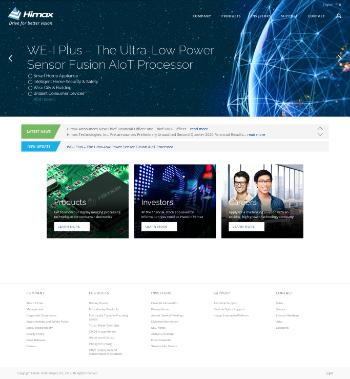 Himax Technologies, Inc. Website Screenshot