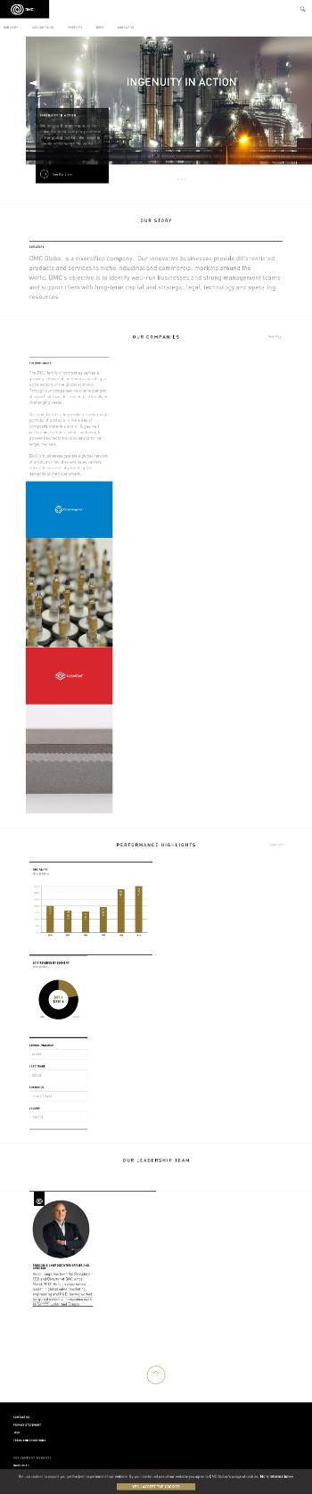 DMC Global Inc. Website Screenshot