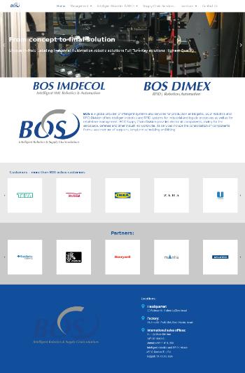 B.O.S. Better Online Solutions Ltd. Website Screenshot