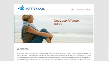 Affymax, Inc. Website Screenshot