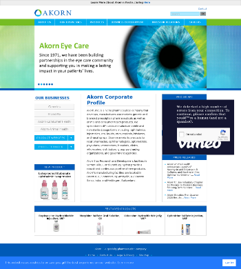 Akorn, Inc. Website Screenshot