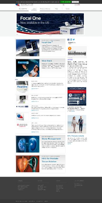 EDAP TMS S.A. Website Screenshot