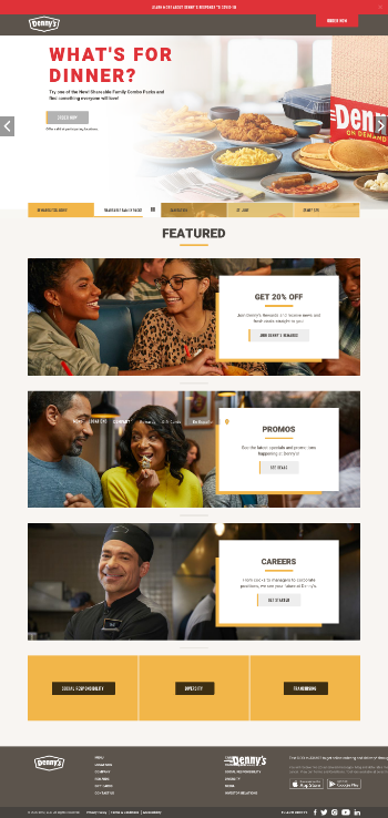 Dennys  Website Screenshot