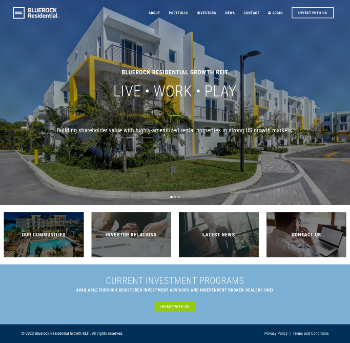 Bluerock Residential Growth REIT, Inc. Website Screenshot
