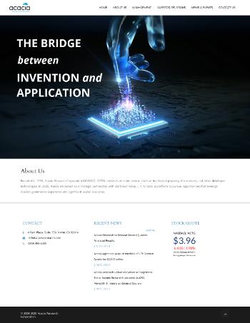 Acacia Research Corporation Website Screenshot