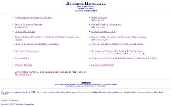 Berkshire Hathaway Inc. Website Screenshot